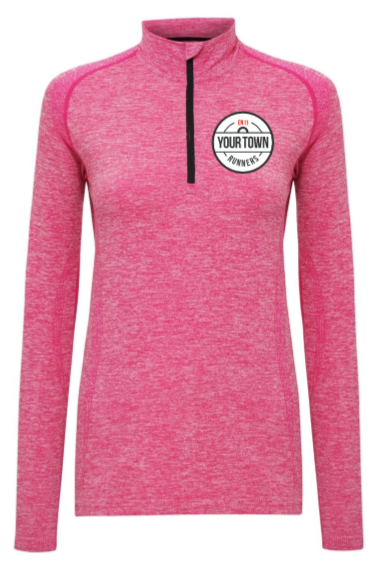 Electric Pink Long-Sleeve Running Top